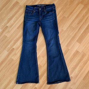 American eagle sz jeans 6 boho flare dark wash